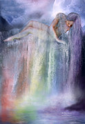 Chakra Mixed Media - Healing Waters by Carol Cavalaris