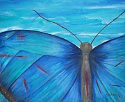 Butterfly Art - Healing waters by Maria  Duenas