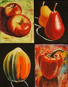 Acorn Paintings - Healthy Eating by Sheila Diemert