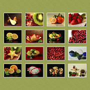 Stylized Food Posters - Healthy International Fruits Collection Poster by Inspired Nature Photography By Shelley Myke