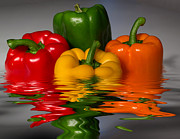 Vegetables Mixed Media - Healthy Reflections by Shane Bechler