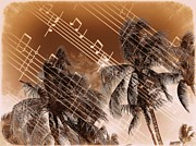 Notes Digital Art - Hear the music by Athala Carole Bruckner