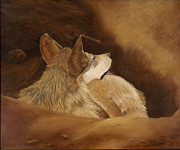 Desert Wildlife Paintings - Heard a Noise by Joyce Blank
