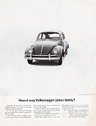Vintage Car Advert Digital Art - Heard any good Volkswagen jokes lately by Nomad Art And  Design