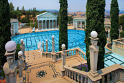 San Simeon Posters - Hearst Castle Neptune Pool Poster by Inge Johnsson