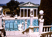 Hearst Castle - Roman Pool Print by Robert  Rodvik
