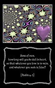 Morals Prints - Heart and Love Design 14 with Bible Quote Print by Rose Santuci-Sofranko
