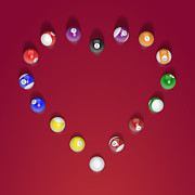 8ball Posters - Heart Break Poster by Angela Chaney