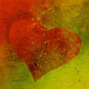 Decorator Prints - Heart Connections Three Print by Ann Powell