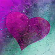 Hearts Prints - Heart Connections Two Print by Ann Powell