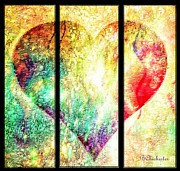 Torn Digital Art Framed Prints - Heart Divided - BChichester Framed Print by Barbara Chichester