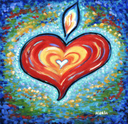 Meanings Posters - Heart Flame Poster by Marla Hoover