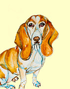 Dogs Mixed Media - Heart Headed Basset by Kelly    ZumBerge