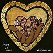 Hearts Ceramics - Heart In Hand by Dorinda K Skains