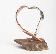 Plasma Cutter Sculptures - Heart  by Jon Koehler