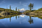 Mount Shasta Posters - Heart Lake Poster by Loree Johnson