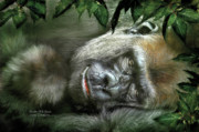 Gorilla Mixed Media Posters - Heart Of A Beast Poster by Carol Cavalaris