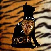 Noir Digital Art - Heart Of A Tiger by Carmen Hathaway