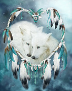 Dreamcatcher Art Mixed Media - Heart Of A Wolf by Carol Cavalaris