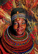 Necklace Mixed Media Posters - Heart of Africa Poster by Michael Durst