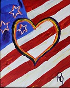 Patriotism Paintings - Heart of America by Michael Greeley