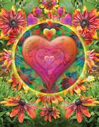 Heart Of Flowers Print by Alixandra Mullins