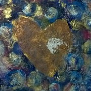 3.14 Painting Posters - Heart of Gold Poster by Christine Nichols