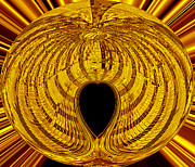 Golden Digital Art - Heart of Gold by David Lee Thompson