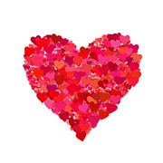 Loving Prints - Heart of Hearts Print by Kurt Van Wagner