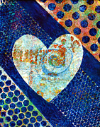 Happy Mixed Media Prints - Heart of Hearts series - Elated Print by Moon Stumpp