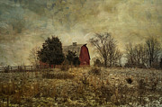 Long Ago Prints - Heart of the Farm Print by Terry Rowe