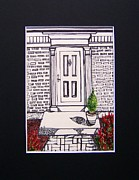 The White House Drawings Posters - Heart of the Home Poster by Janice W Deetscreek