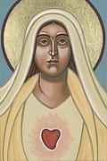 Immaculate Heart Prints - Heart of the Mother Print by William Hart McNichols