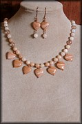 Evening Jewelry Prints - Heart of the Peach Print by Jan  Brieger-Scranton
