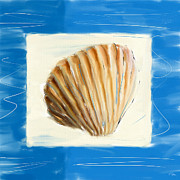 Seashell Art Digital Art Prints - Heart Of The Sea Print by Lourry Legarde