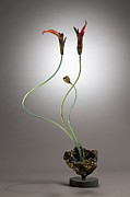 Contemporary Sculpture Sculptures - Heart on Fire by David Ascenbrener
