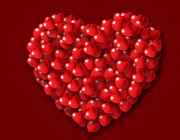 Valentines Day Digital Art - Heart shaped Hearts by Kiril Stanchev