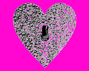 Al Powell Photography Usa Digital Art Prints - Heart Shaped Lock - Pink Print by Al Powell Photography USA