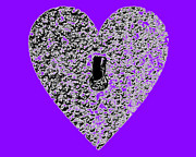 Al Powell Photography Usa Digital Art Prints - Heart Shaped Lock - Purple Print by Al Powell Photography USA