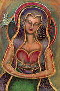 Visionary Artist Painting Framed Prints - Heart Song Framed Print by Annette Wagner