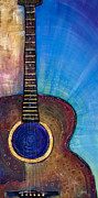Acoustic Guitar Paintings - Heart Song by Tanielle Childers