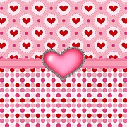 Pink Ribbon Prints - Heart To Heart Print by Debra  Miller