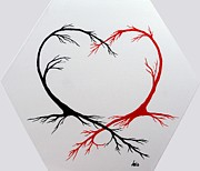 Marianna Mills Metal Prints - Heart Trees - Arteries of Love Metal Print by Marianna Mills
