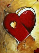 Valentines Day Framed Prints - Heartbeat by MADART Framed Print by Megan Duncanson