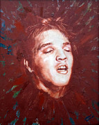Elvis Presley Painting Originals - Heartbreak Hotel by Carole Heslin