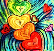 Forgiveness Prints - Hearts After Him Print by Hazel Holland