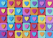 Color Line Prints - Hearts of Colour Print by Tim Gainey