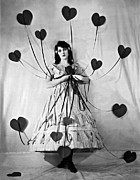 B And W Posters - Hearts With Strings Attached Poster by Underwood Archives