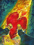 Converse Paintings - Heartshoes by Kati Biggs