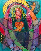 Visionary Art Painting Originals - Heartsong by Havi Mandell